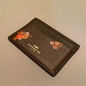 Coach Card Wallet NWT Floral Rose